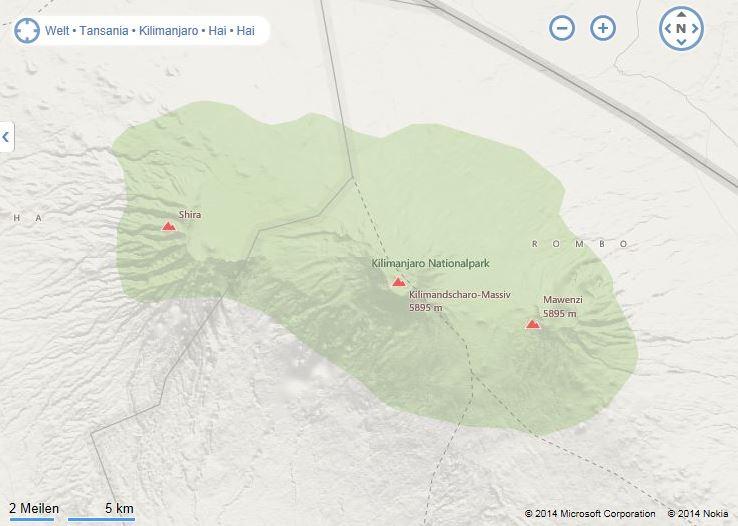 11.04.2014 - Ausschnitt Bing-Map