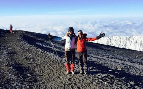 2. Im Gipfelbereich: Maria Furtwängler mit ihrer Mutter