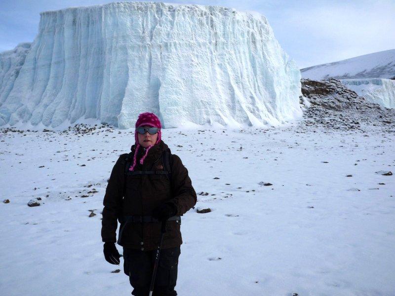 2009 - Bianca und der Dom am Furtwängler Gletscher.